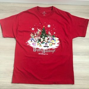 Disney Red Christmas T-shirt, size XL